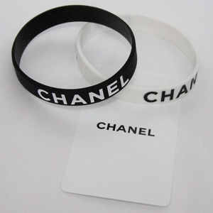 Jewelry - Chanel VIP Rubber Bracelets White Black